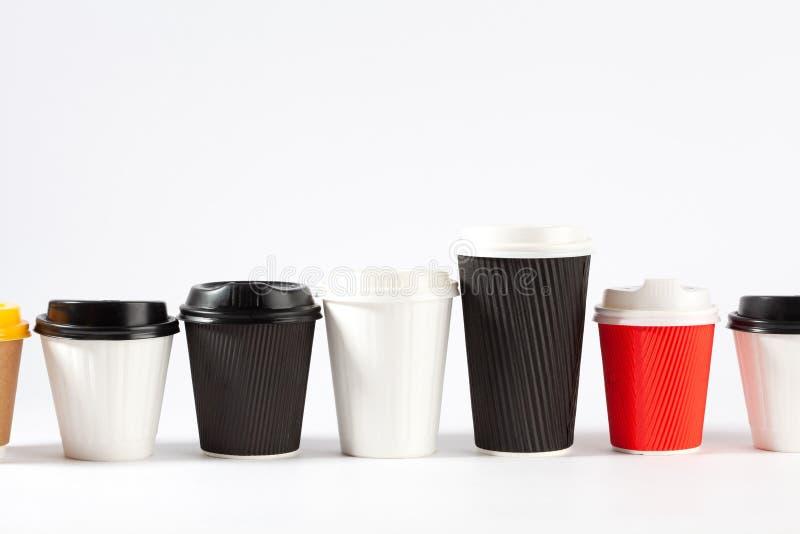 Υπόλοιπος κόσμος των μίας χρήσης φλυτζανιών coffe στοκ φωτογραφία με δικαίωμα ελεύθερης χρήσης