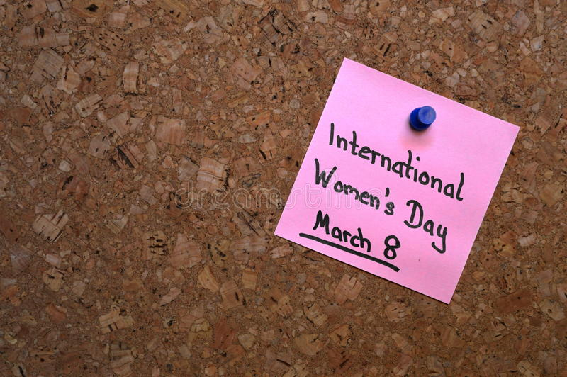 Υπόμνημα: Ημέρα των παγκόσμιων γυναικών στοκ εικόνες