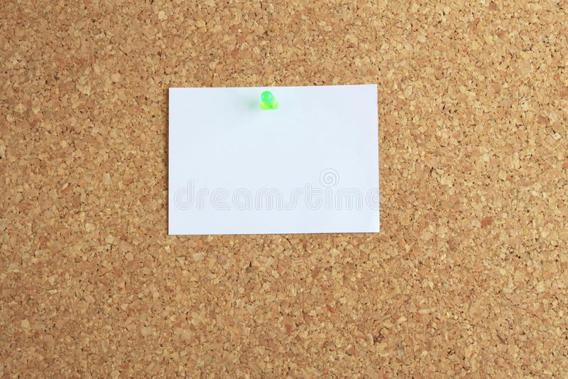 υπόμνημα φελλού χαρτονιών στοκ φωτογραφίες