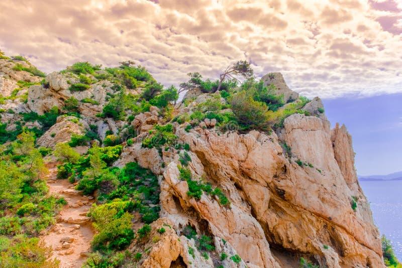 Υπόστεγο bleue-ηλιοβασίλεμα-2 Λα στοκ φωτογραφία με δικαίωμα ελεύθερης χρήσης