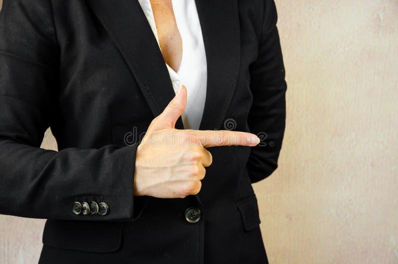 υπόδειξη δάχτυλων στοκ φωτογραφία