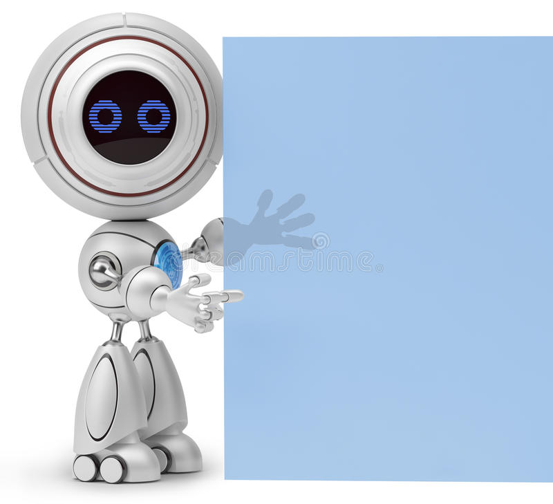 Υπόδειξη ρομπότ ελεύθερη απεικόνιση δικαιώματος