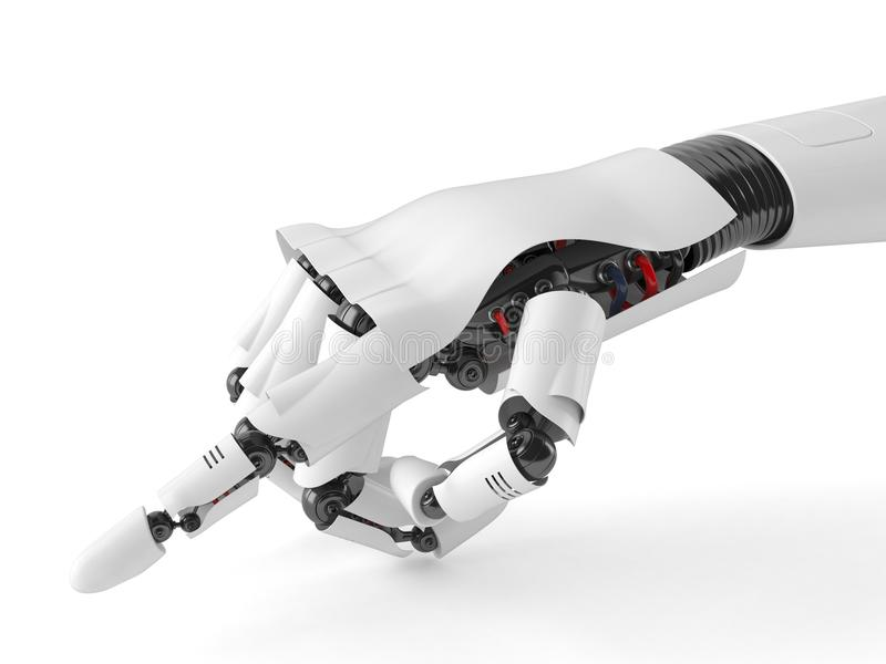 Υπόδειξη του χεριού ρομπότ ελεύθερη απεικόνιση δικαιώματος