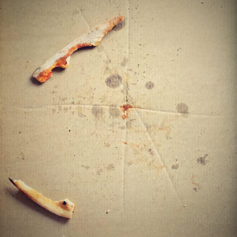 Υπόλοιπα της πίτσας σε ένα κιβώτιο στοκ φωτογραφία