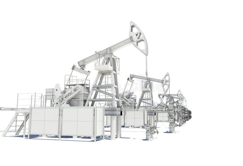 Υπόλοιπος κόσμος των γρύλων αντλιών πετρελαίου και φυσικού αερίου διανυσματική απεικόνιση