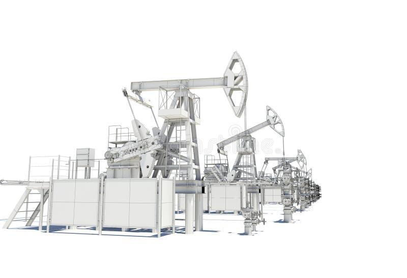 Υπόλοιπος κόσμος των γρύλων αντλιών πετρελαίου και φυσικού αερίου απεικόνιση αποθεμάτων