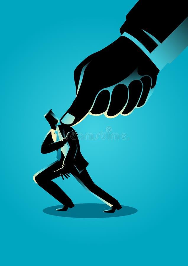 Υπό πίεση επιχειρηματίας ελεύθερη απεικόνιση δικαιώματος