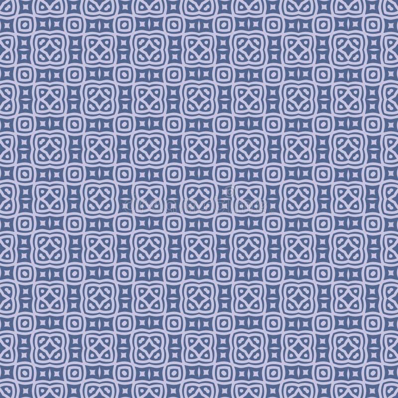 Υφάσματος τακτοποιημένη διάνυσμα απεικόνιση σχεδίων υποβάθρου σχεδίου στο μπλε που χρωματίζεται άνευ ραφής διανυσματική απεικόνιση