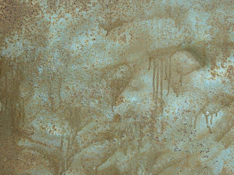 Υφή παλιάς μεταλλικής επιφάνειας χρωματισμένη με χρώματα ασημί και καφέ στοκ φωτογραφίες