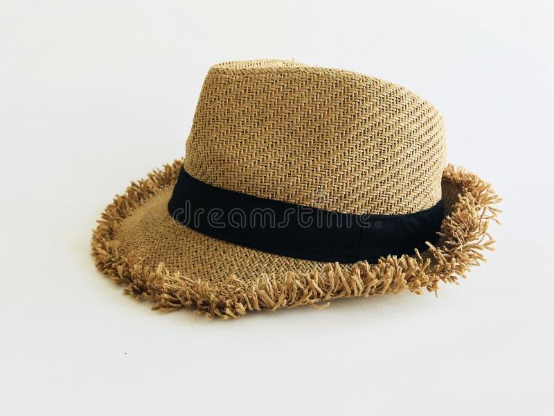 Υφαίνοντας καπέλο στο λευκό στοκ εικόνα με δικαίωμα ελεύθερης χρήσης
