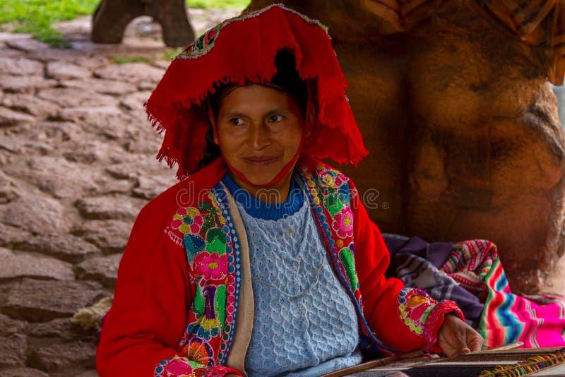 Υφαίνοντας ύφασμα γυναικών Inca στοκ φωτογραφίες με δικαίωμα ελεύθερης χρήσης