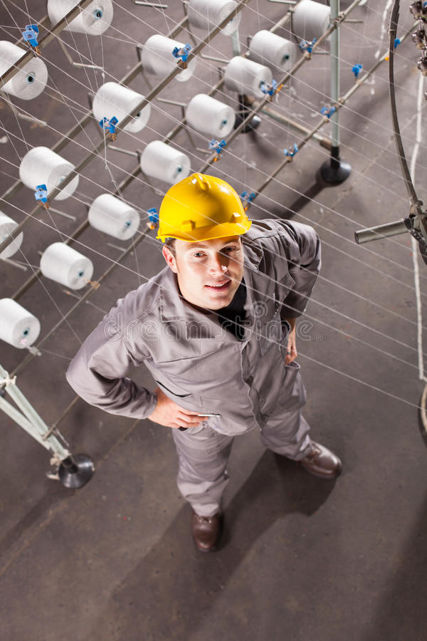 Υφαντικός βιομηχανικός εργάτης στοκ φωτογραφία με δικαίωμα ελεύθερης χρήσης
