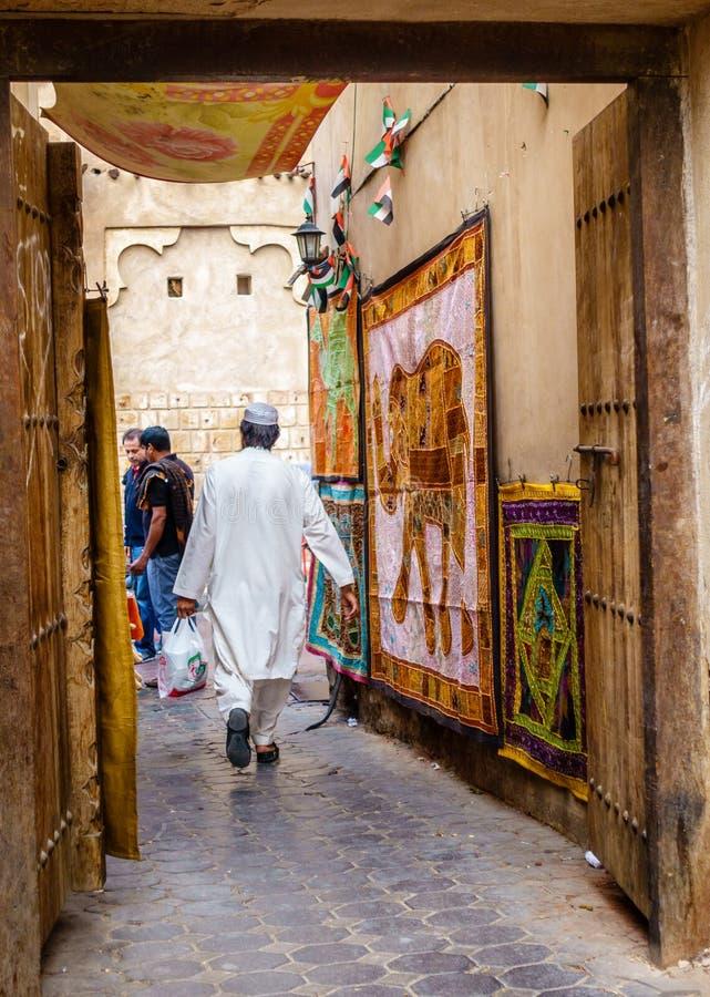 Υφαντικό παζάρι του Ντουμπάι στοκ φωτογραφία με δικαίωμα ελεύθερης χρήσης