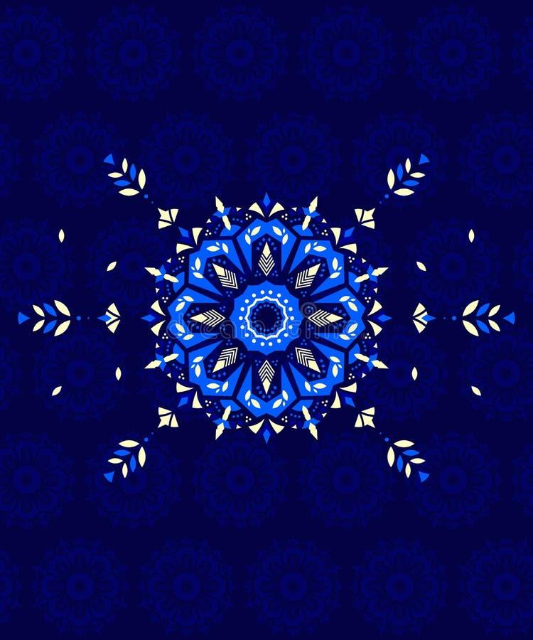 Υφαντικό σχέδιο Mandala απεικόνιση αποθεμάτων