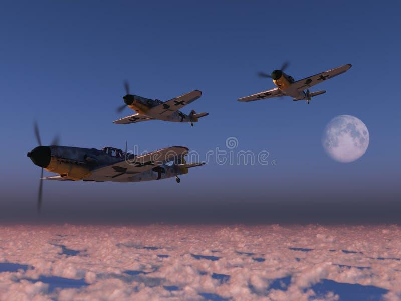 υψηλά αεροπλάνα wwii μαχητών ύψ&om απεικόνιση αποθεμάτων