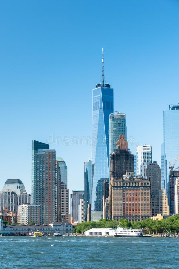 Υψηλά κτήρια ανόδου πόλεων της Νέας Υόρκης στοκ φωτογραφία με δικαίωμα ελεύθερης χρήσης