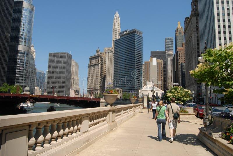Υψηλά κτήρια ανόδου στο Σικάγο στοκ φωτογραφία με δικαίωμα ελεύθερης χρήσης
