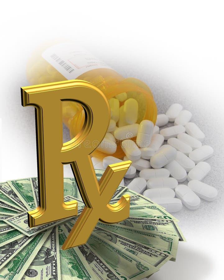 υψηλά χάπια χρημάτων ιατρική&si απεικόνιση αποθεμάτων
