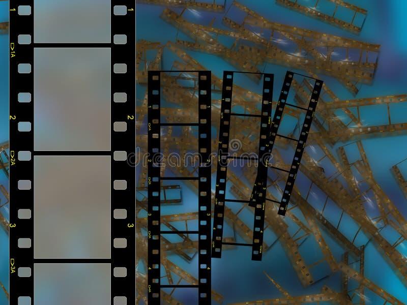 υψηλή διάλυση πλαισίων ταινιών 35mm διανυσματική απεικόνιση