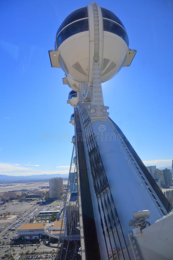 Υψηλή ρόδα Λας Βέγκας Ferris κυλίνδρων στοκ φωτογραφίες