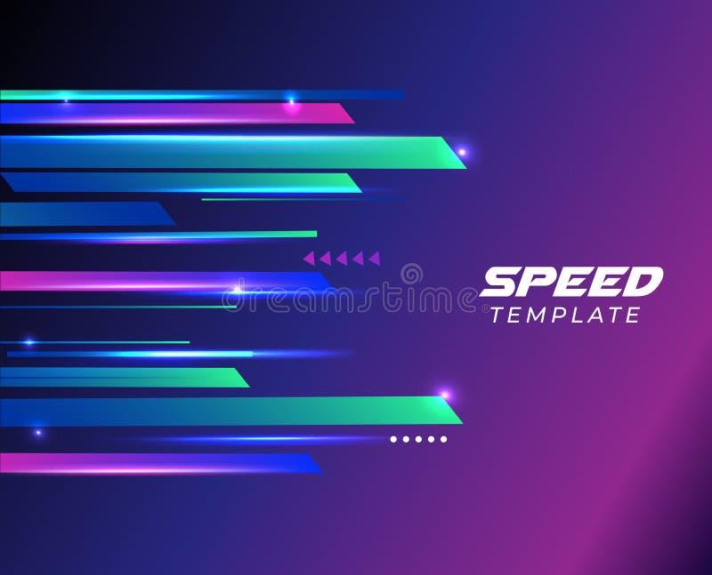 Υψηλή ταχύτητα Υψηλή τεχνολογία r o διανυσματική απεικόνιση