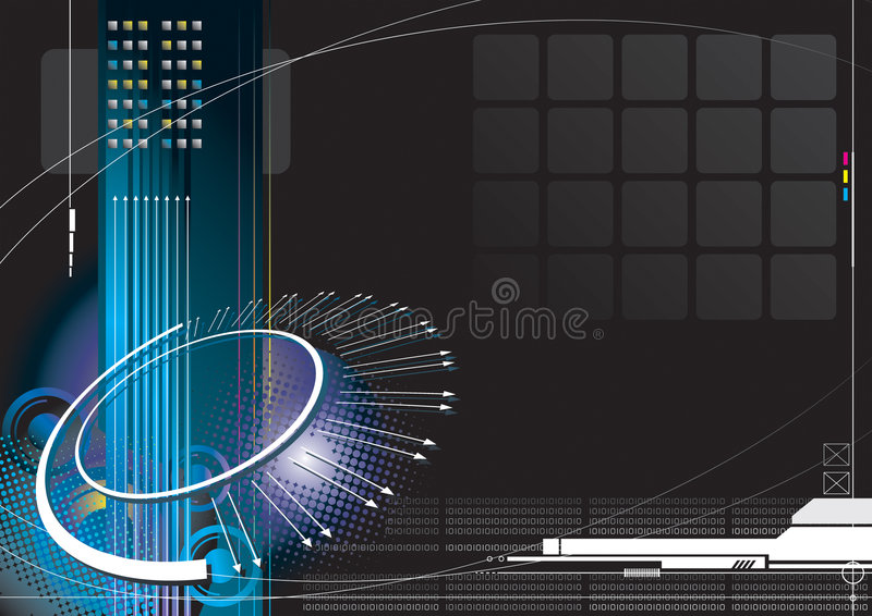 υψηλή τεχνολογία απείρο& διανυσματική απεικόνιση