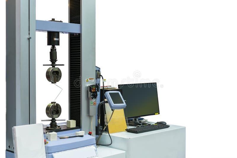 Υψηλή τεχνολογία και ακρίβεια της αυτόματης μηχανής δοκιμής εκτατής δύναμης δύο vises για τη δοκιμή και την ανάλυση υλικής ιδιοκτ στοκ φωτογραφίες με δικαίωμα ελεύθερης χρήσης