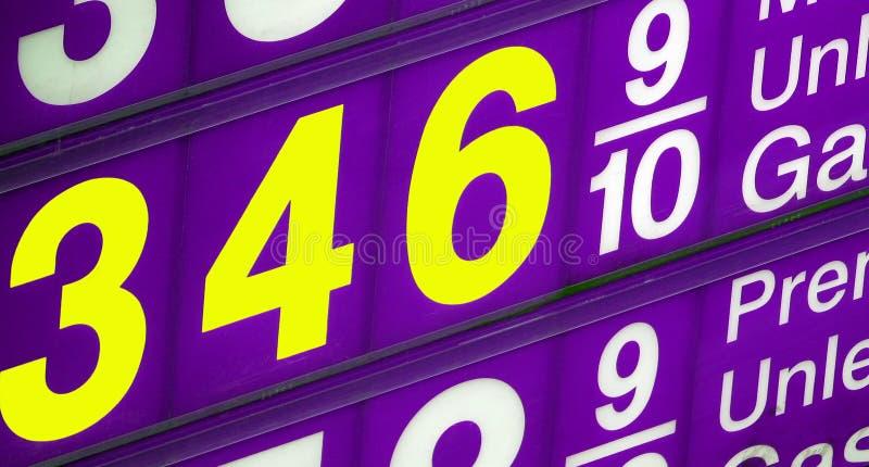 υψηλή τιμή του πετρελαίο&up στοκ εικόνες