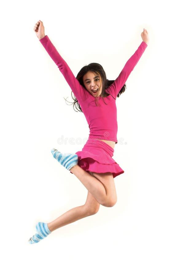 υψηλός πηδώντας έφηβος στοκ εικόνα