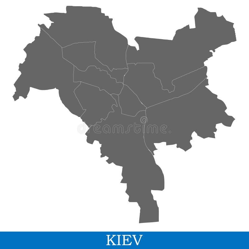 Υψηλός - ποιοτικός χάρτης της πόλης ελεύθερη απεικόνιση δικαιώματος