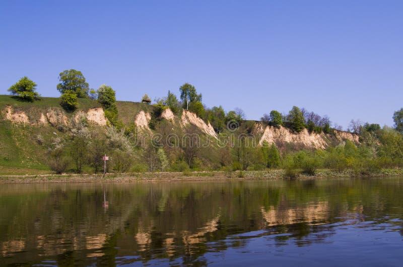 υψηλός ποταμός desna τραπεζών στοκ φωτογραφίες με δικαίωμα ελεύθερης χρήσης