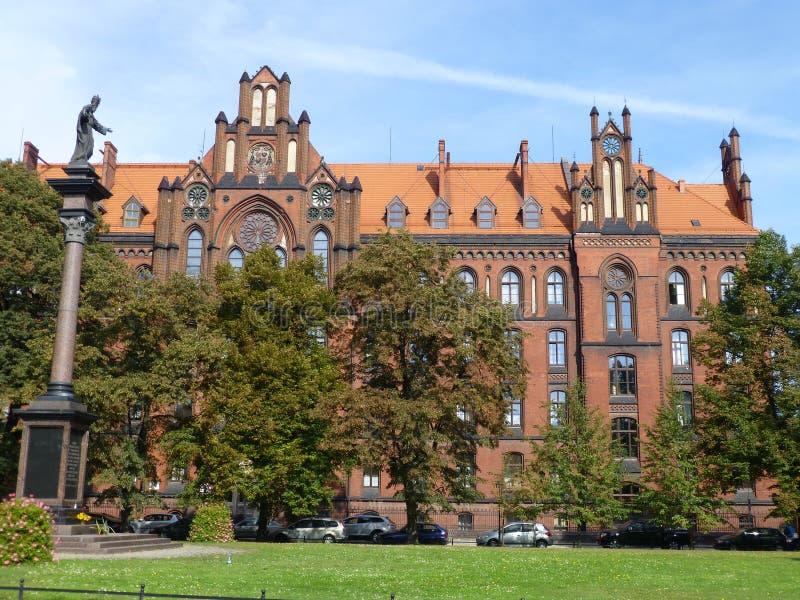 Υψηλότερος θεολογικός σχολή σε Wroclaw στοκ εικόνες
