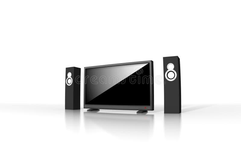 υψηλό θέατρο βασικής τηλεόρασης καθορισμού απεικόνιση αποθεμάτων