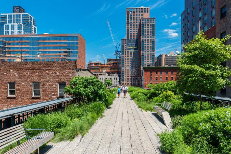 Υψηλό πάρκο γραμμών στην πόλη ΗΠΑ της Νέας Υόρκης στοκ εικόνα με δικαίωμα ελεύθερης χρήσης