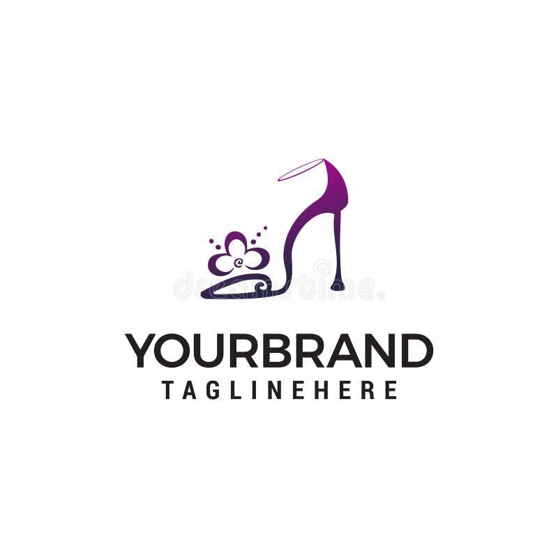 Υψηλό πρότυπο έννοιας σχεδίου λογότυπων τακουνιών ελεύθερη απεικόνιση δικαιώματος