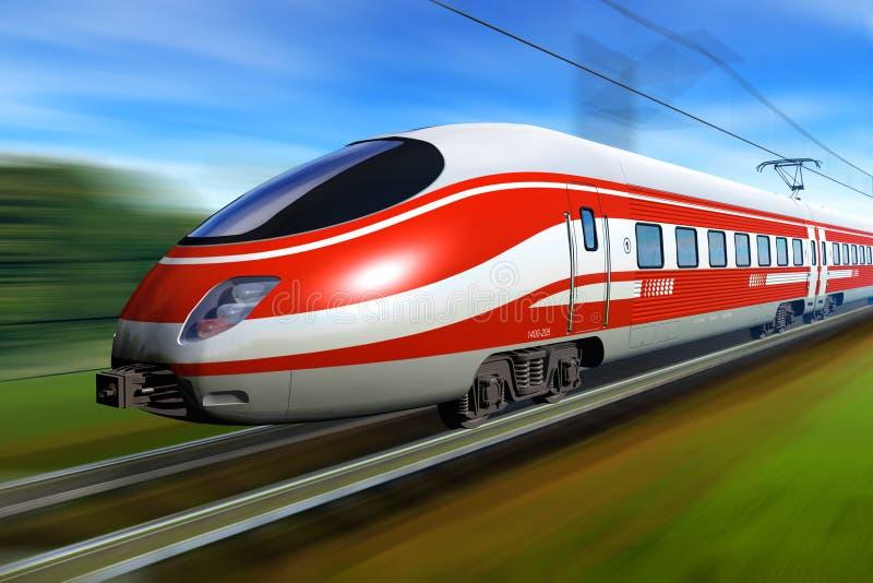 υψηλό σύγχρονο τραίνο ταχύ&ta ελεύθερη απεικόνιση δικαιώματος