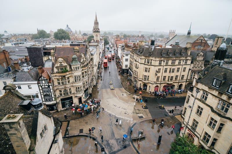 Υψηλή άποψη γωνίας της Οξφόρδης στοκ φωτογραφία με δικαίωμα ελεύθερης χρήσης