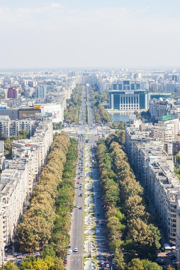 Υψηλή άποψη γωνίας του Βουκουρεστι'ου στοκ φωτογραφία με δικαίωμα ελεύθερης χρήσης