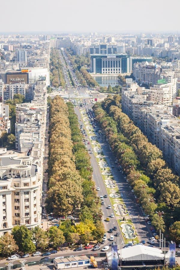 Υψηλή άποψη γωνίας του Βουκουρεστι'ου στοκ εικόνα
