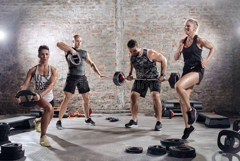 Υψηλή ένταση που εκπαιδεύει workout στοκ φωτογραφίες με δικαίωμα ελεύθερης χρήσης