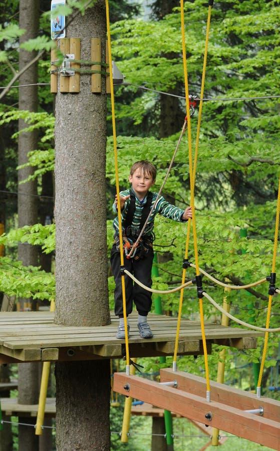 Υψηλή παιδική χαρά σχοινιών στοκ φωτογραφία με δικαίωμα ελεύθερης χρήσης