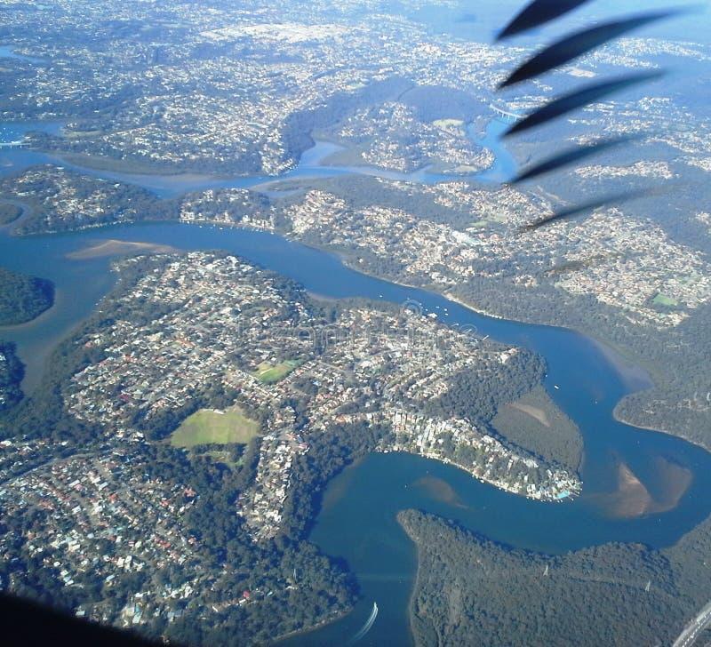 Υψηλός επάνω από την εναέρια άποψη σύννεφων στοκ φωτογραφία με δικαίωμα ελεύθερης χρήσης