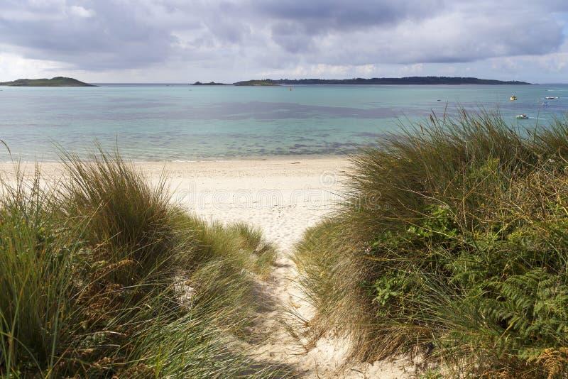 Υψηλότερος πόλης κόλπος, ST Martin, νησιά Scilly, Αγγλία στοκ φωτογραφίες με δικαίωμα ελεύθερης χρήσης