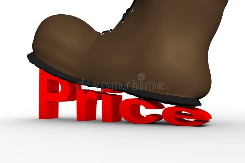 Υψηλό κόστος συντριβών παπουτσιών διανυσματική απεικόνιση