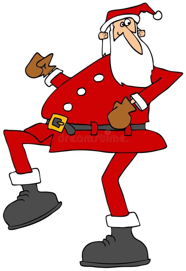 Υψηλό να περπατήσει Santa ελεύθερη απεικόνιση δικαιώματος