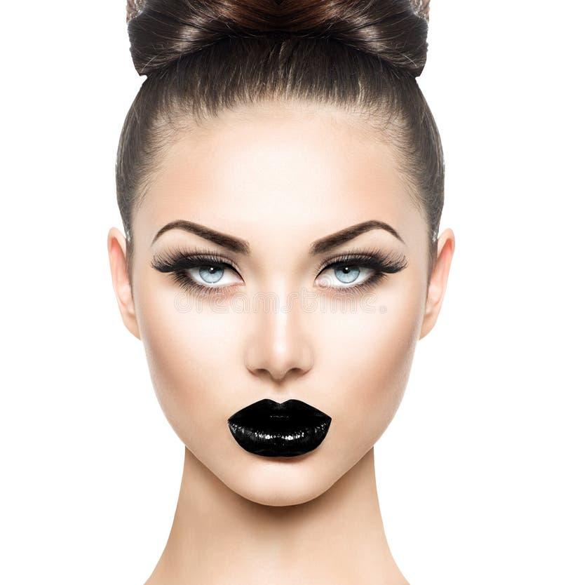 Υψηλό πρότυπο κορίτσι ομορφιάς μόδας στοκ εικόνες