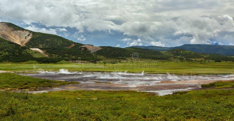 Υδροθερμικός τομέας Caldera Uzon Επιφύλαξη φύσης Kronotsky στοκ εικόνα με δικαίωμα ελεύθερης χρήσης