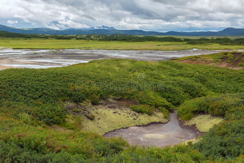 Υδροθερμικός τομέας Caldera Uzon Επιφύλαξη φύσης Kronotsky στοκ εικόνες με δικαίωμα ελεύθερης χρήσης