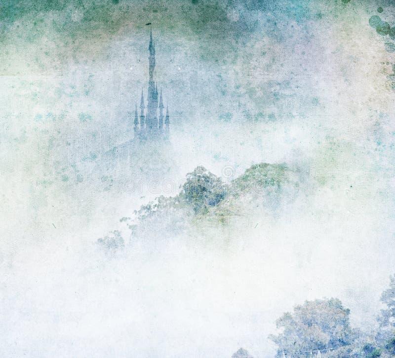Υδρονέφωση βουνών παλατιών ελεύθερη απεικόνιση δικαιώματος