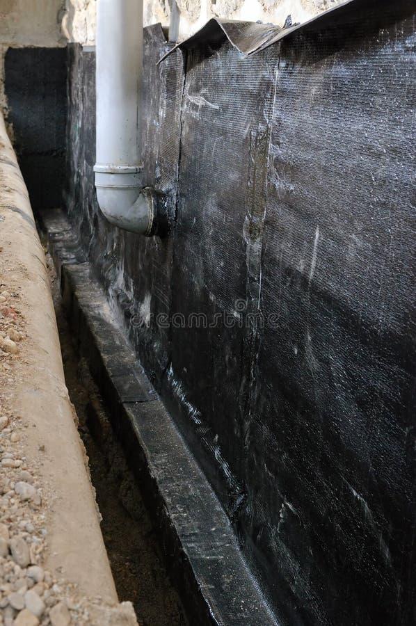 Υδρο απομόνωση του σπιτιού στοκ εικόνα